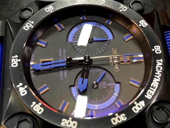 Zodiac Zmx01 Chronograph Swiss Made Quartz Como Bell & Ross
