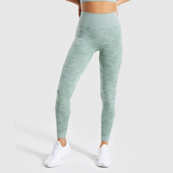 Leggings Lycra Mujer Camuflaje, Cintura Alta Fit, Gym, Yoga