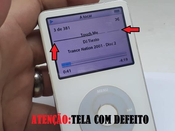 iPod A1136 De 30 Gb Usado Com Defeito Na Tela Funcionando Js