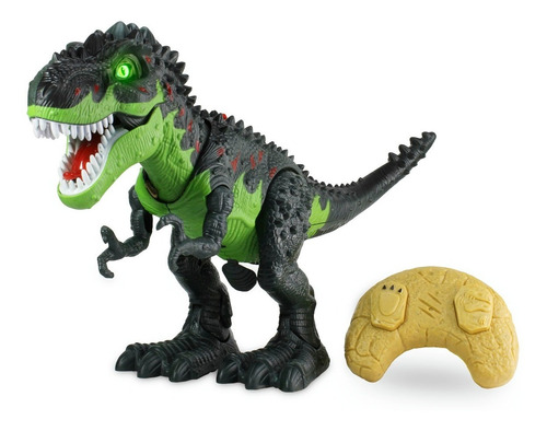 Imagen 1 de 10 de Juguete Dinosaurio T-rex Con Luces,sonido Pone Huevos Contro