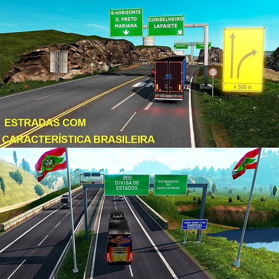 Mapa Brasieliro Realista Para Euro Truck Simlator 2