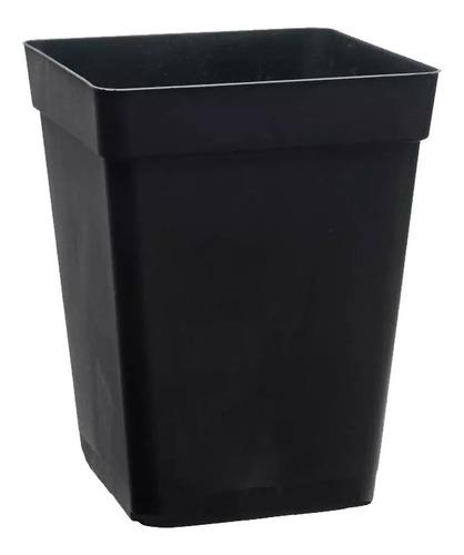 Imagen 1 de 4 de Maceta Plastico Cuadrada Para Indoor 11 Litros Auto Cultivo