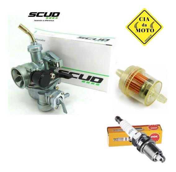 Carburador Scud Mais Filtro Vela Biz 100 100 1999 Até 2005