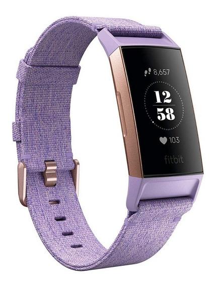 Fitbit Charge 3 Rosa / Lavender - Pulseiras P / G Incluída