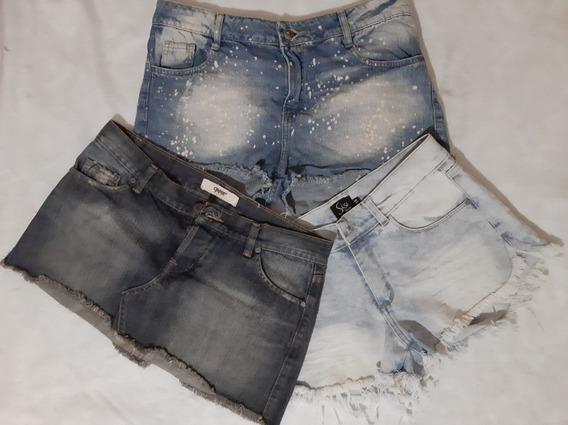 Shorts Y Polleritas De Jean Talle S/ M -2 Prendas A Eleccion