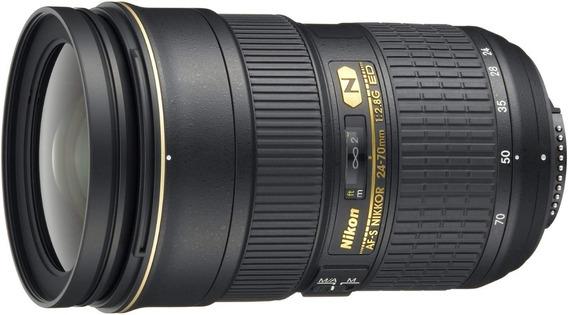 Lente Nikon Af-s 24-70mm F/2.8g Ed + Nota Fiscal Em 12x