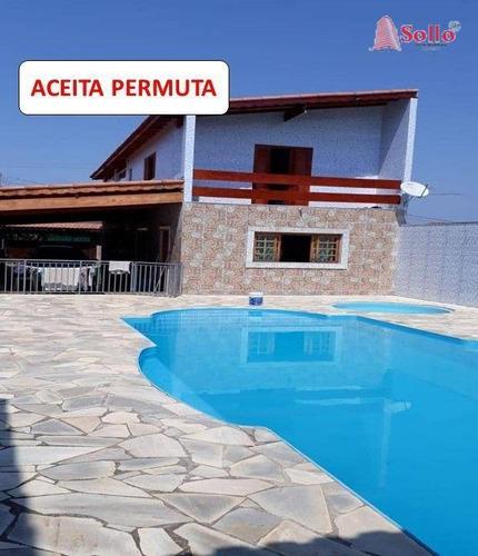 Imagem 1 de 28 de Chácara Com Piscina Em Terra Preta - Ch0008