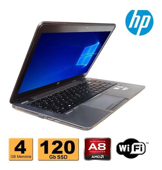 Notebook Hp Elitebook 745 Amd 7150 4gb Ddr3 Ssd 120gb Wifi