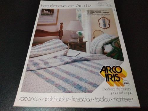 (pb721) Publicidad Clipping Ropa De Cama Arco Iris (promo 1)