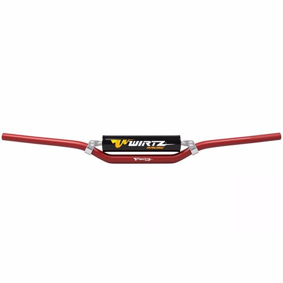 Manubrio Wirtz® Enduro Cross W3d Fatbar Ø28mm Rojo