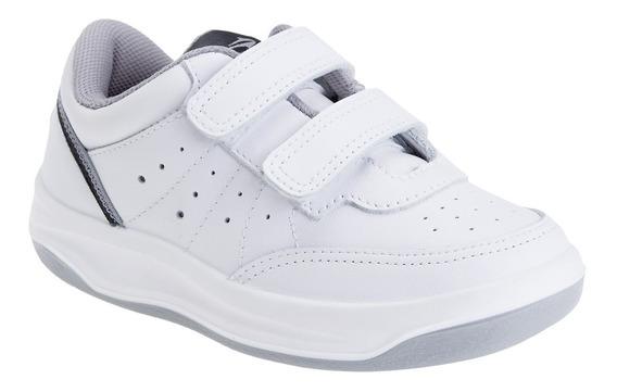 Zapatillas X Forcer Velcro Topper Tenis Niños Cuero Vacuno