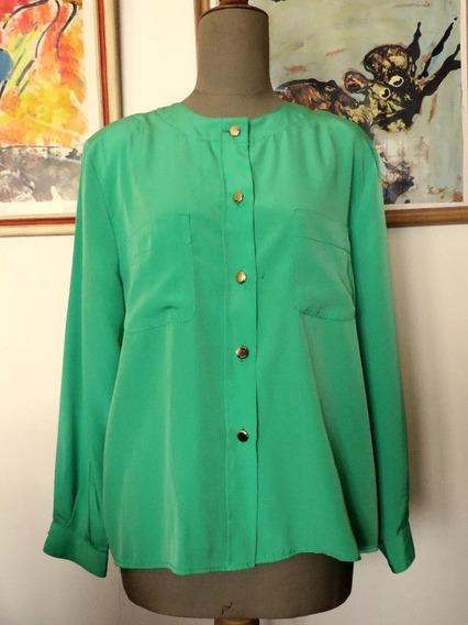 Camisa Verde Vibrante - Made In Spain