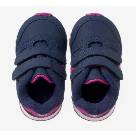 Tenis Klin Mini Walk Marinho Pink