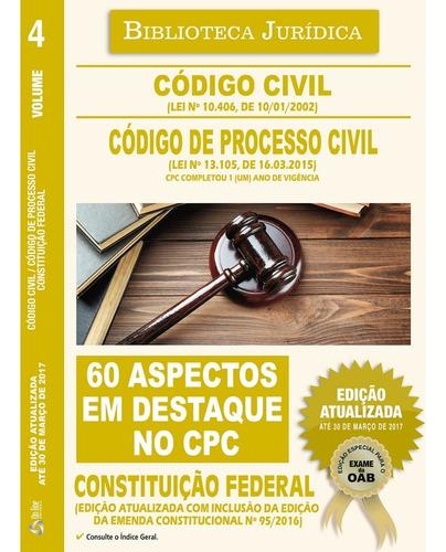 Livro Código Civil - Código De Processo Civil 2017 + Brinde
