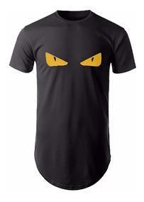 Camiseta Longline Masculina Fendi Oversized Camisa Swag Moda