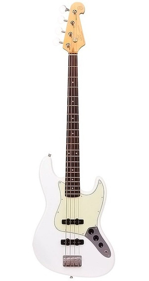 Baixo Sx Sjb62 Jazz Bass 4 Cordas Passivo Bag Olympic White