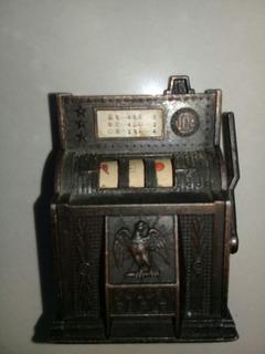 Maquina Tragamonedas Coleccionable Metal Miniatura Sacapunta