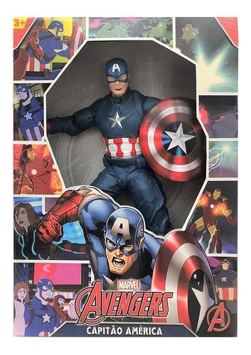 Imagem 1 de 1 de Capitão America 45 Cm Avengers Revolution - Mimo