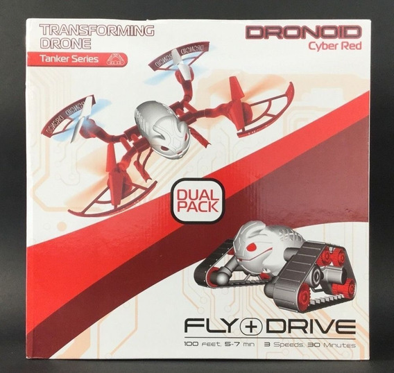 Dronoid Transforming Drone Tanker Series Dual Pack Cyber Red