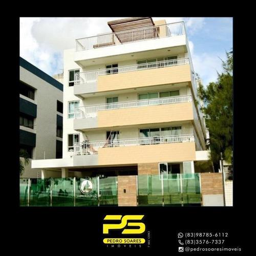 Apartamento Com 1 Dormitório À Venda, 57 M² Por R$ 432.457,64 - Cabo Branco - João Pessoa/pb - Ap4259