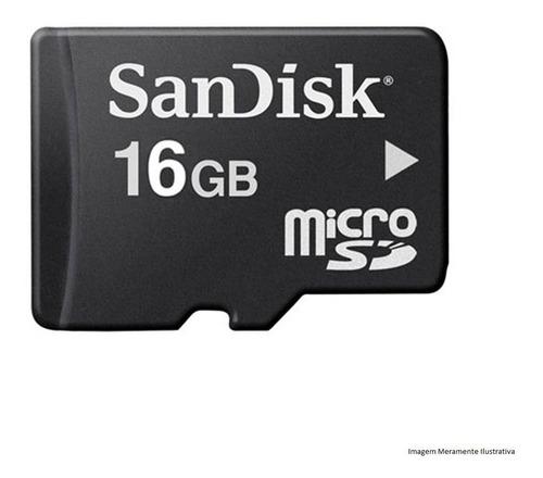 Cartão Micro Sd Sandisk 16gb  Com Adaptador Original