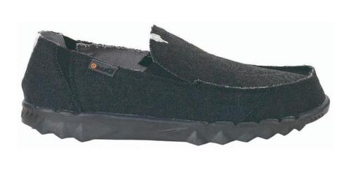 Zapatos Mocasines Nauticos Hombre Hey Dude Farty Jet Black
