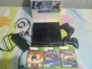 Xbox 360 Super Slim Anda Perfecto Incluye 4 Juegos