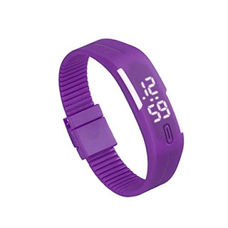 Bolayu Hombre Mujer Hule Led Deportes Impermeable Reloj Puls