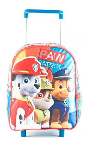 Mochila Paw Patrol Carro 12 Azul