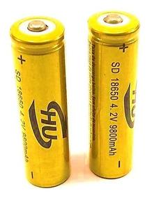 Kit 5 Baterias 18650 4200mah 3.7v Para Lanterna Tática Led