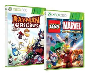 Lego Marvel / Rayman Xbox 360 Originais Novos Lacrados