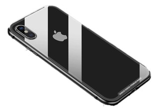 Case Baseus Magnético Metal Bumper Vidro iPhone Xr Xs Max