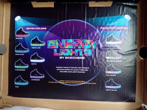 Oferta Zapatos Energy Lights Unisex Nuevo. Talla 7.5-39