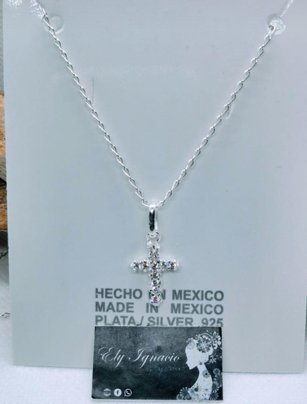 Lote 10 Cadena Dije Cruz Zirconia Plata 925 Recuerdo Bautizo