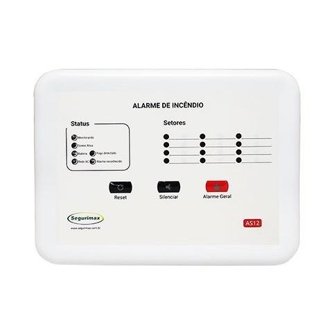 Central De Alarme 12 Setores 12v Com Bateria Segurimax