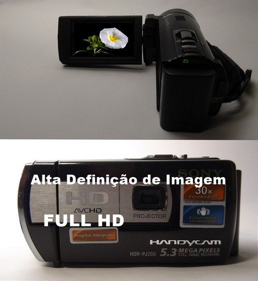 Filmadora Sony Hdr-pj200 Full Hd Projetor Integrado