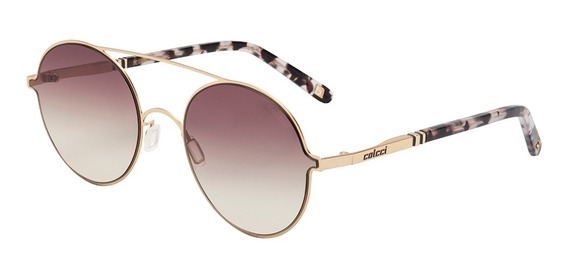 Óculos De Sol Feminino Redondo Colcci Lente Degradê