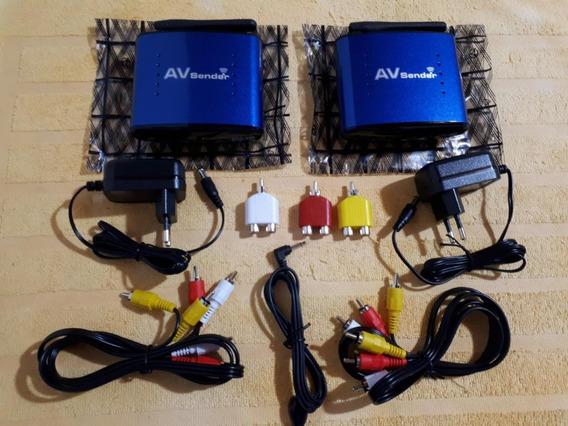 Av Sender Transmissor E Receptor Áudio Vídeo Wireless 5.8gh