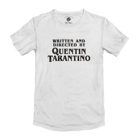 Remera Quentin Tarantino Movie Blanca Algodón Peinado 24/1