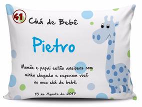 30 Almofadas Personalizadas Nascimento Maternidade Chá 15x20