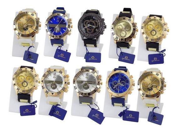 Kit Com 10 Relógios Orizom Originais + Caixa Revenda Atacado
