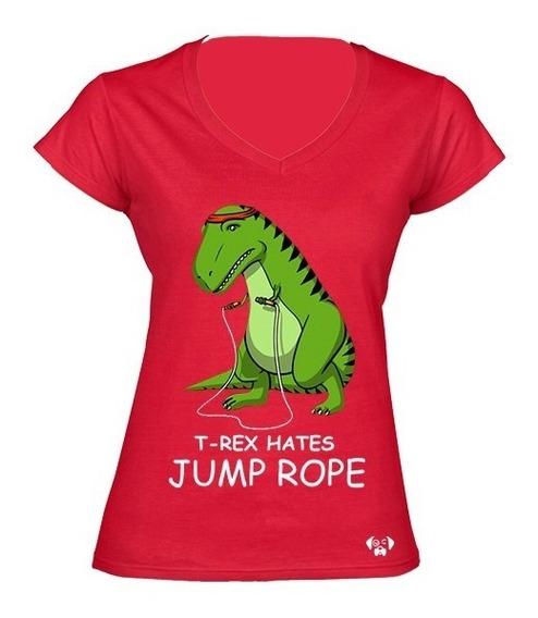 Sarcasmo Playera T Rex Hates Jump Rope