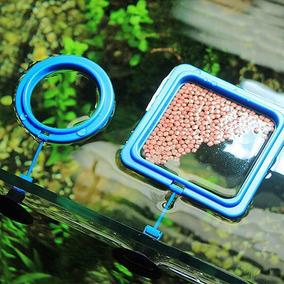 Alimentador Plastico Redondo Para Peixes 10x10cm (comedouro)