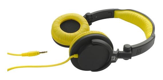 Fone De Ouvido Headphone Amarelo Com Grave Produndo Sv5612