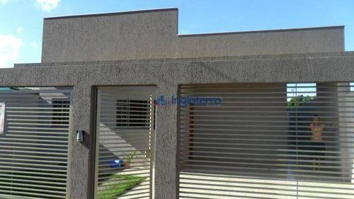 Casa Com 3 Dormitórios À Venda, 200 M² Por R$ 289.000,00 - Jatobá - Londrina/pr - Ca0619