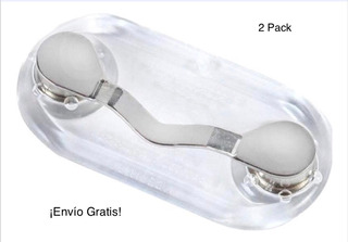 Soporte Magnético Para Gafas Set X 2 Plateados