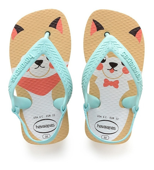Chinelo Havaianas Baby Pets Marfim - Colecao 2019
