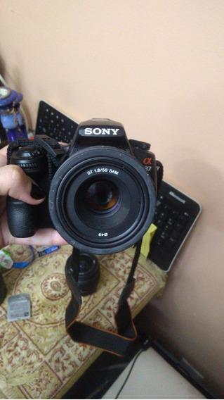Câmera Semi Profissional Sony Alpha 37 Com 3 Lentes Originai