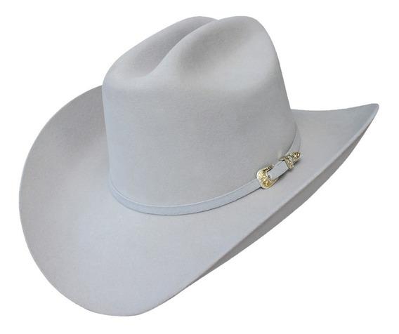 Sombrero Texana Goldstone Gris Sonora 100% Pelo De Conejo