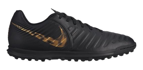 Chuteira Society Nike Legend 7 Club Tf - Preto E Dour